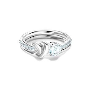 Swarovski Lifelong Heart Ring, weiss, rhodiniert