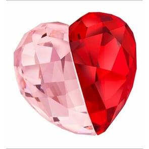 Swarovski Love Heart, Light Siam, medium