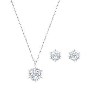 Swarovski Magic Snowflake Set | Halskette mit Ohrstecker