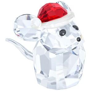 Swarovski Maus mit Nikolausmütze