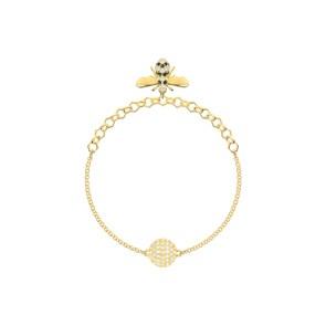 Swarovski Remix Collection Bee Armband, schwarz, vergoldet