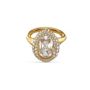 Swarovski Shell Ring, weiss, vergoldet