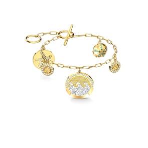 Swarovski Shine Coins Armband, mehrfarbig, vergoldet