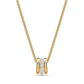 Swarovski Stone Halskette, weiss, Metallmix