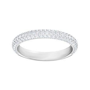 Swarovski Stone Ring, weiss, rhodiniert