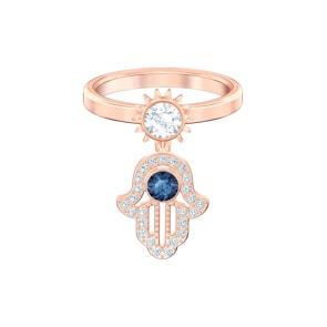 Swarovski Symbolic Ring, blau, rosé vergoldet