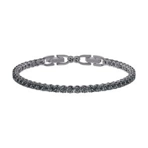 Swarovski Tennis Deluxe Armband, grau, rutheniert