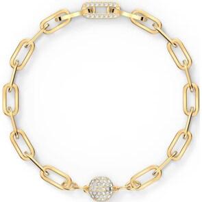 Swarovski The Elements Chain Armband, weiss, vergoldet
