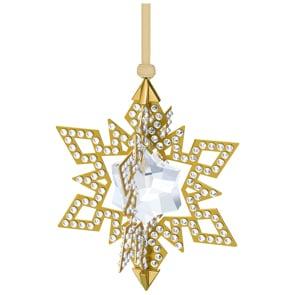 Swarovski Weihnachtsornament Stern, Goldfarben