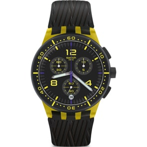 Swatch Original Chrono Yellow Tire