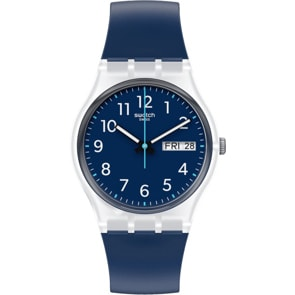 Swatch Original Rinse Repeat Navy Day Date