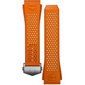 TAG Heuer Connected 2020 Uhrenarmband Kautschuk Orange