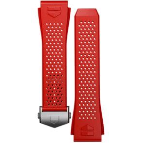 TAG Heuer Connected 2020 Uhrenarmband Kautschuk Rot