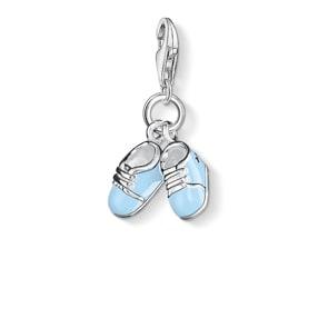 Thomas Sabo Charm-Anhänger blaue Babyschuhe