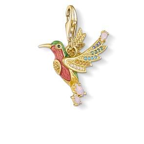 Thomas Sabo Charm-Anhänger Bunter Kolibri Gold