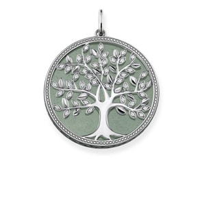 Thomas Sabo Sterling Silver Glam & Soul Anhänger Grüner Tree of Love