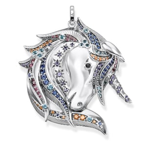 Thomas Sabo Sterling Silver Glam & Soul Anhänger Royalty Einhorn Silber