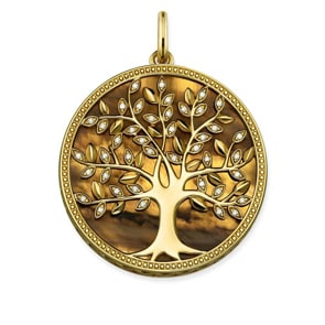 Thomas Sabo Sterling Silver Glam & Soul Anhänger Tree of Love Braun