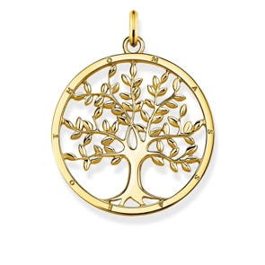 Thomas Sabo Sterling Silver Glam & Soul Anhänger Tree of Love Gold