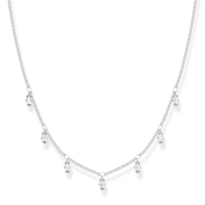 Thomas Sabo Sterling Silver Glam & Soul Collier Baguette-Form