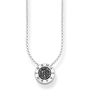 Thomas Sabo Sterling Silver Glam & Soul Collier Schwarzes Classic Pavé