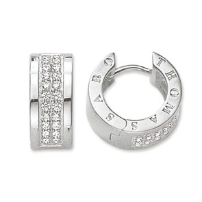 Thomas Sabo Sterling Silver Glam & Soul Creolen Classic Weiss