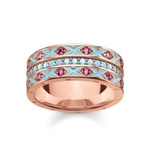 Thomas Sabo Sterling Silver Glam & Soul Damenring Asiatische Ornamente