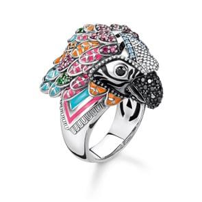 Thomas Sabo Sterling Silver Glam & Soul Damenring Papagei