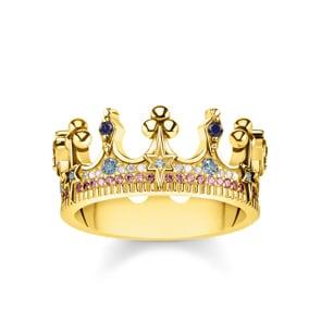 Thomas Sabo Sterling Silver Glam & Soul Damenring Royalty Krone Gold