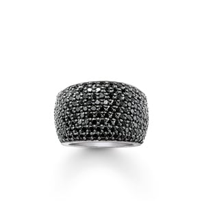 Thomas Sabo Sterling Silver Glam & Soul Eternityring Schwarzes Pavé
