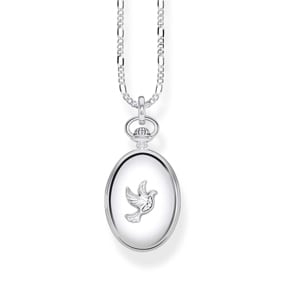 Thomas Sabo Sterling Silver Glam & Soul Kette Medaillon Taube Oval