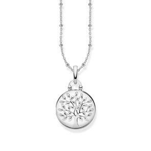 Thomas Sabo Sterling Silver Glam & Soul Kette Medaillon Tree of Love Silber Rund