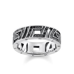Thomas Sabo Sterling Silver Glam & Soul Ring Asiatische Ornamente