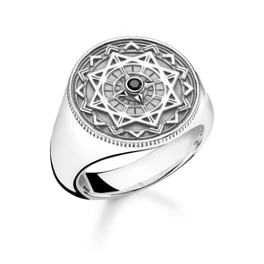 Thomas Sabo Sterling Silver Glam & Soul Ring Vintage Kompass Silber