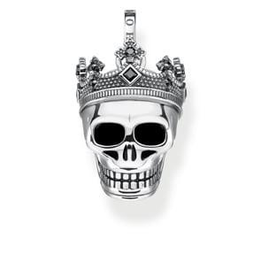 Thomas Sabo Sterling Silver Rebel at Heart Anhänger Totenkopf Krone