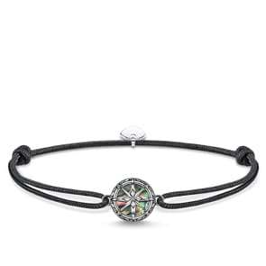 Thomas Sabo Sterling Silver Rebel at heart Armband Little Secret Kompass Abalone Perlmutt