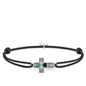 Thomas Sabo Sterling Silver Rebel at heart Armband Little Secret Kreuz Abalone Perlmutt