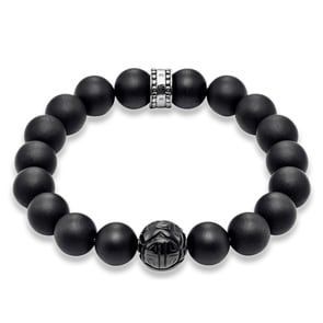 Thomas Sabo Sterling Silver Rebel at Heart Armband Obsidian