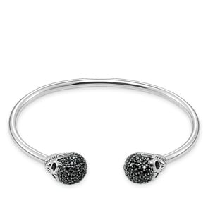 Thomas Sabo Sterling Silver Rebel at Heart Armreif Totenkopf Pavé