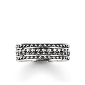 Thomas Sabo Sterling Silver Rebel at Heart Bandring Totenkopf