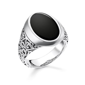Thomas Sabo Sterling Silver Rebel at Heart Herrenring Schwarz