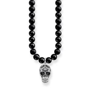 Thomas Sabo Sterling Silver Rebel at Heart Kette Power Necklace Maori Totenkopf Pavé