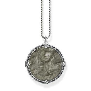 Thomas Sabo Sterling Silver Rebel at Heart Kette Vintage Coin Farbenspiel
