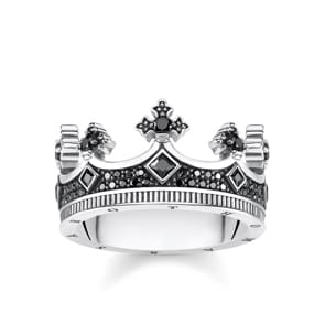 Thomas Sabo Sterling Silver Rebel at Heart Ring Krone