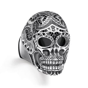 Thomas Sabo Sterling Silver Rebel at Heart Ring Maori Totenkopf