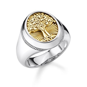 Thomas Sabo Sterling Silver Rebel at Heart Ring Tree of Love Gold