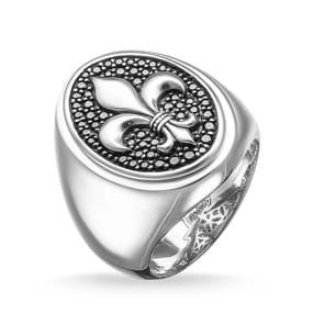 Thomas Sabo Sterling Silver Rebel at Heart Siegelring bourbonischer Lilie