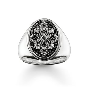 Thomas Sabo Sterling Silver Rebel at Heart Siegelring Love Knot