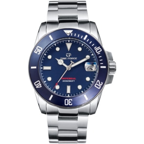 Time Force Imperial Diver Silbrig / Blau