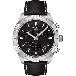 Tissot PR 100 Sport Gent Chronograph Leder schwarz
